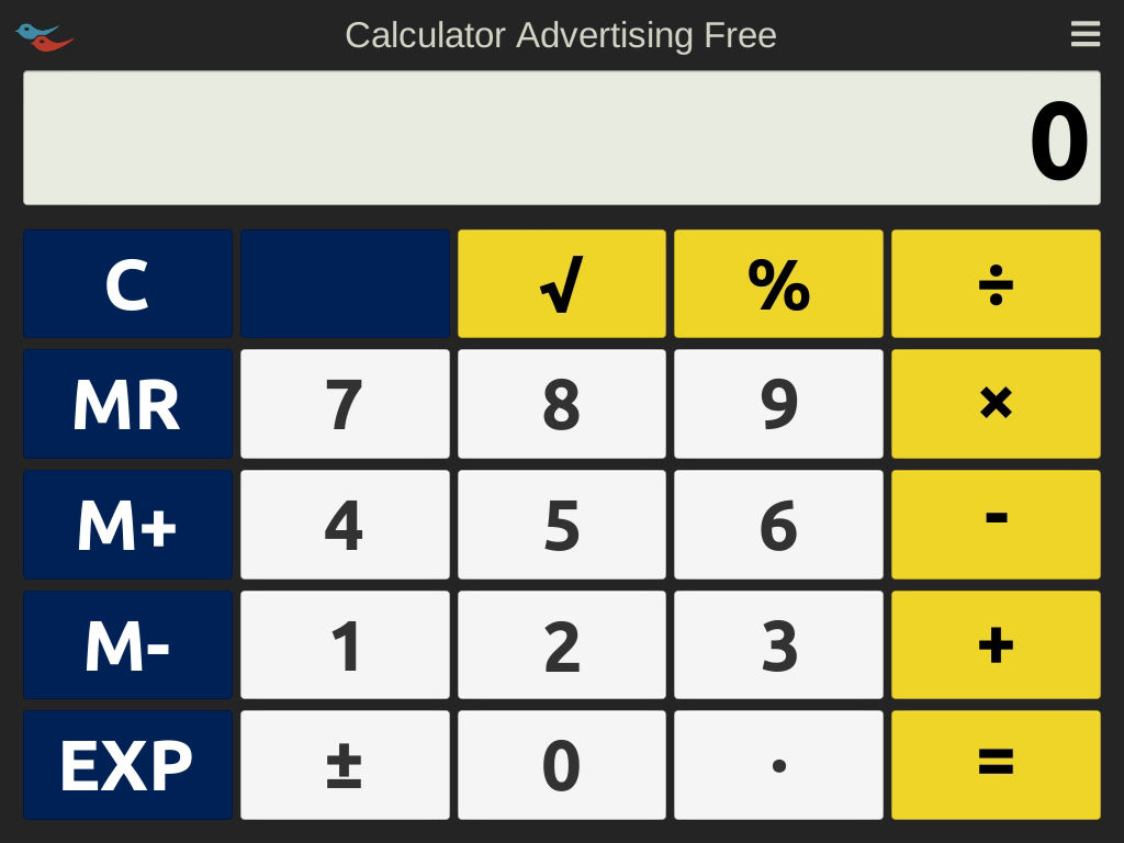 Advertising Free Calculator screenshot